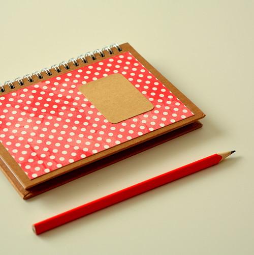 """Zápisník - deník \""""Jahodové puntíky\"""", A6"""