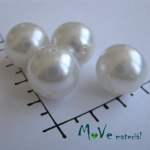 České voskové perle bílé 16mm, 4ks