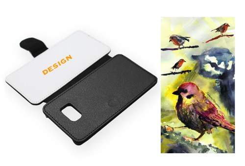 Ptačí - Samsung S6 Edge Obal Koženka