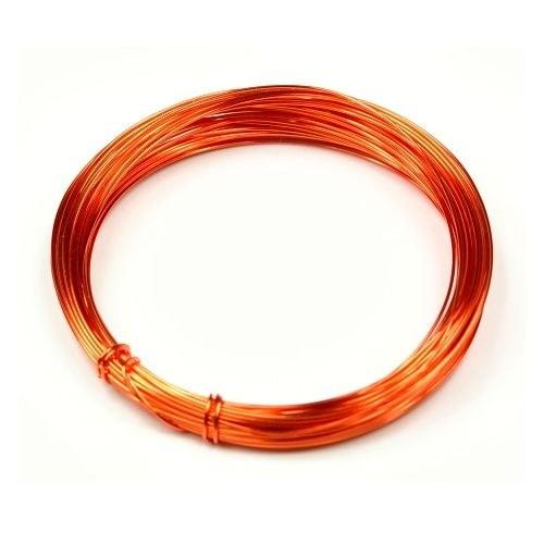 Lakovaný měděný drát 0,3 mm - návin 5 m - oranžový