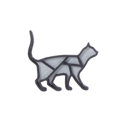 Kočka silver/black
