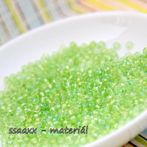 Rokajl ~ 4 mm ~ 50g ~ zelený krystal