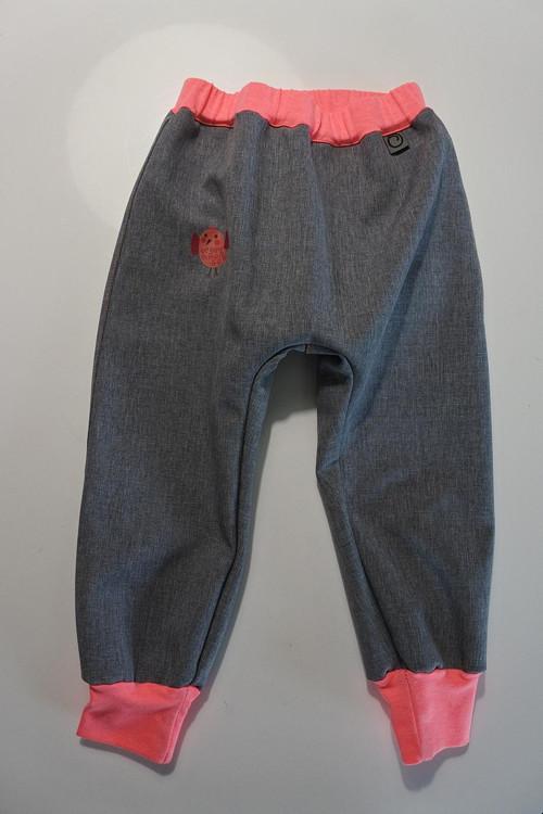 Softshellové kalhoty pro batolátka Růžové v. 80-92