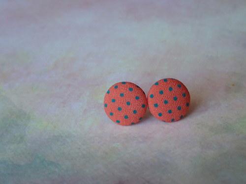 Dotty Buttons (hot orange-green)