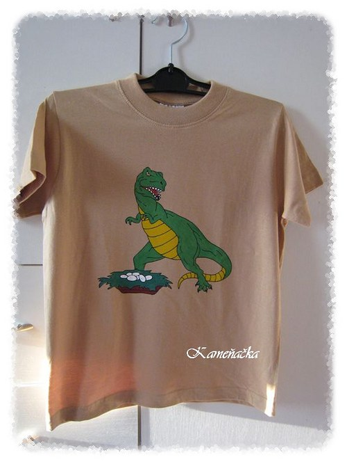 Dětské tričko s dinosaurem Rexem
