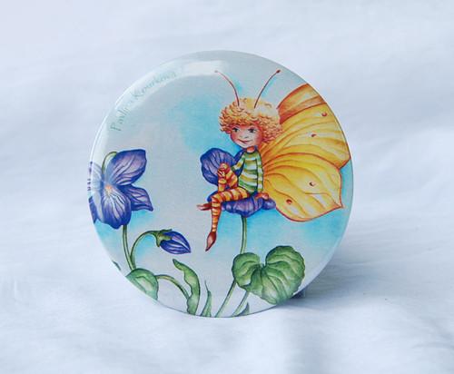 Motýlek - kapesní zrcátko