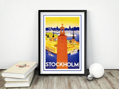 Vintage plakát Stockholm 1