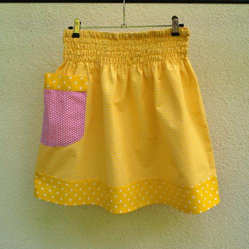 Sukně Žlutá  lemovaná