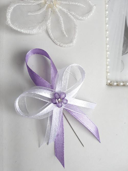 Dvoubarevný fialový vývazek