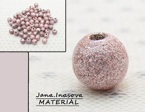 """Akrylové korálky \""""perleťovo staro růžové\"""" 10 ks"""