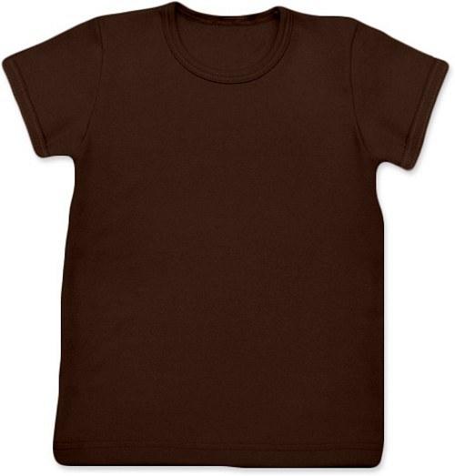 Dětské Uni tričko KR čokoládové