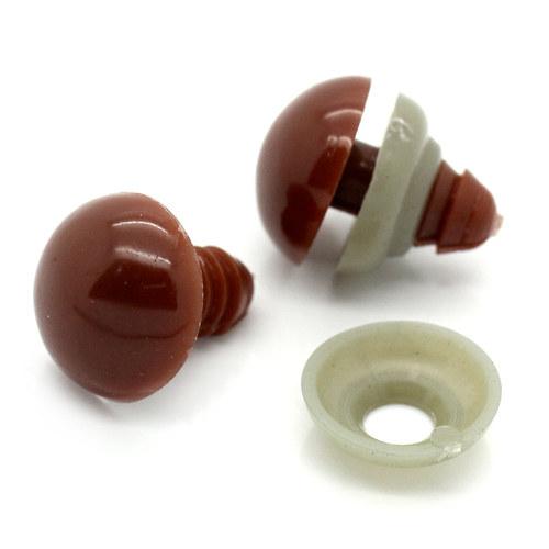 Bezpečnostní oči - hnědé 14mm, 1 pár