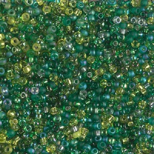 MIX Miyuki Seed Beads 11/0 - Ever Green, 10g
