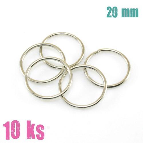 Platinové kroužky 20 mm (10 ks)