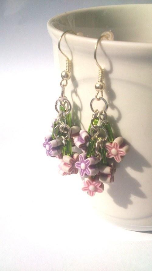 Růžovo-fialové květy