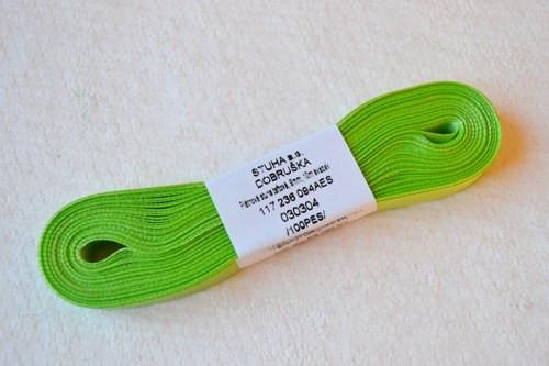 10 m taftové stuhy, barva sv. zelená