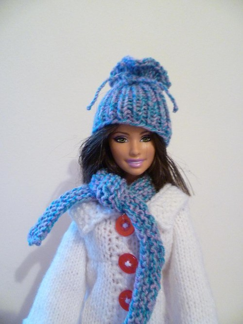 Čepice a šála pro barbie