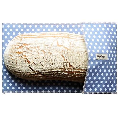 Chlebapsa - kapsa na váš chléb, šedá s puntíky