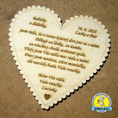 Poděkování babičce/dědečkovi nevěsty.. KV0192