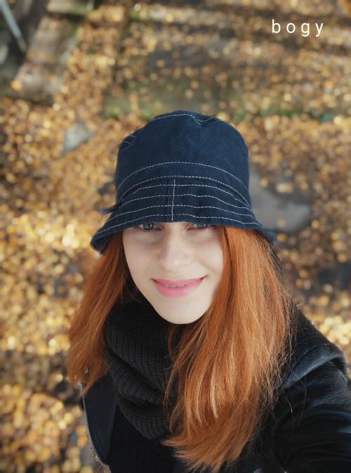 tmavý hluboký plátěný recy klobouk, unisex 53/54cm