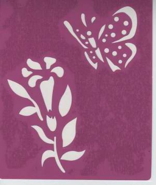 Samolepící šablona na textil