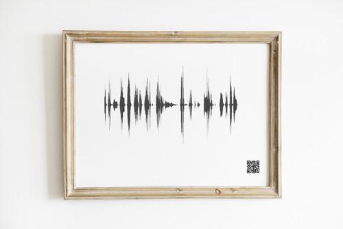 Plakát - Osobní zvuková vlna - černobílá