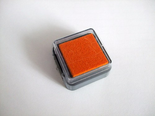 Razítkovací polštářek - oranžová