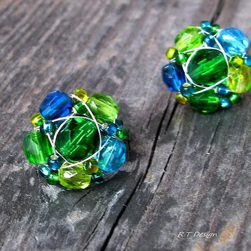 Náušničky Smaragdové moře...