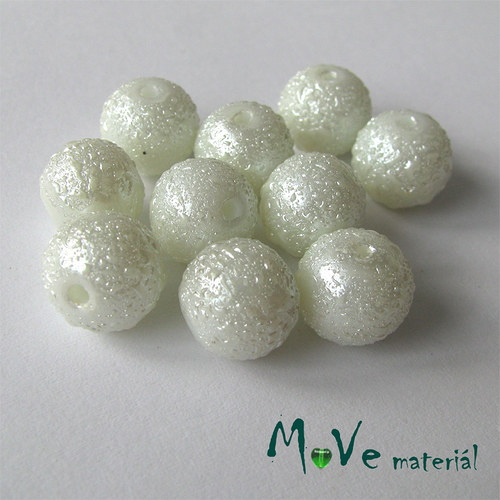 """Voskové perle \""""Zigana\"""" 10mm, 10ks, bílé"""