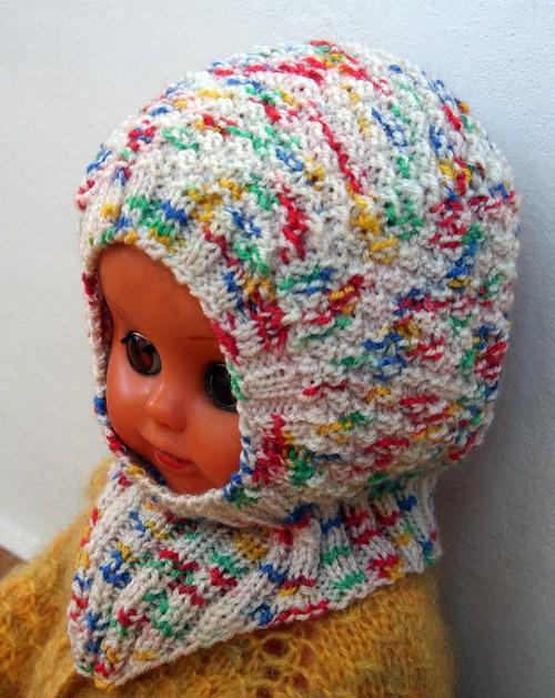 Kukla dětská pletená světlá - 6 měsíců