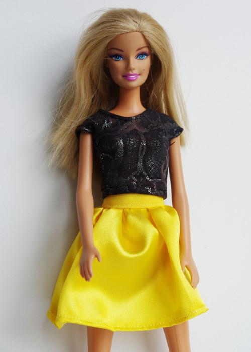 Slniečková suknička pre Barbie