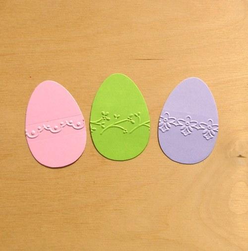 Kraslice s embos. bordurou (střední) - 3 ks