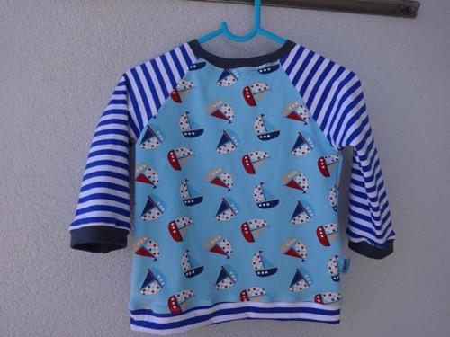 Dětské námořnické tričko-lodičky a proužky 86-92