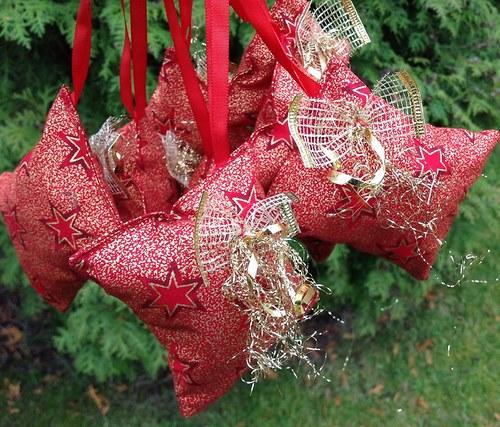 Voňavá vánoční dekorace - červená