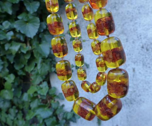 Ze slunce...náhrdelník z jantaru