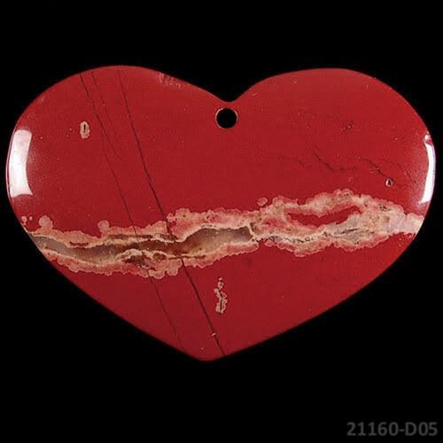 21160-D05 Přívěšek velké srdce JASPER  53/35/6