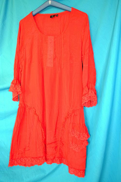 Vintage šaty sytě červené, romantické, lehoučké
