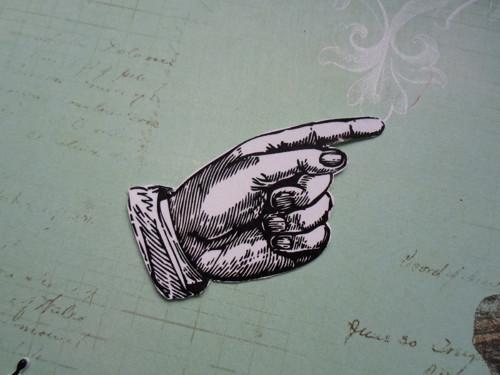 Tištěný výřez - ruka