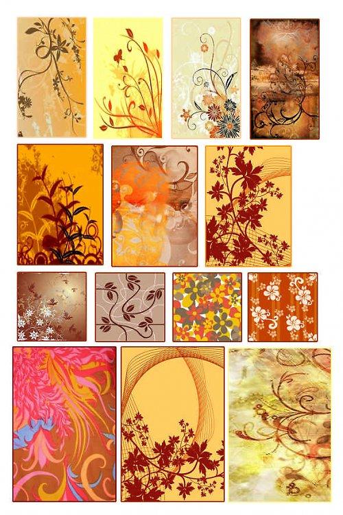 hnědé ornamenty
