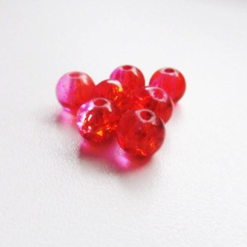 Praskačky 8 mm - oranžovočervené - 20 ks