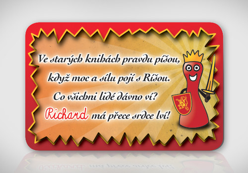 Poetická magnetka se jménem Richard
