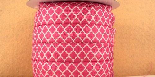 Pruženka/guma š. 16 mm: Tile světle růžová