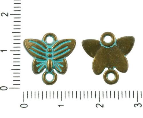 12ks Starožitné Bronzové Tón Tyrkysové Modrá Patin