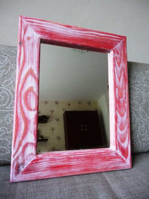 Zrcadlo malé s masivním rámem 035