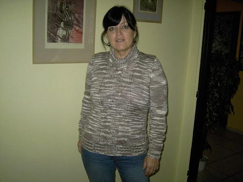 pletený svetr s rolákem,vel.40/42 - VÝPRODEJ
