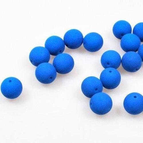 Neonové korálky 50 ks / 8 mm / modré