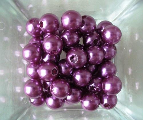 sv.fialové perličky 8mm/ 50ks