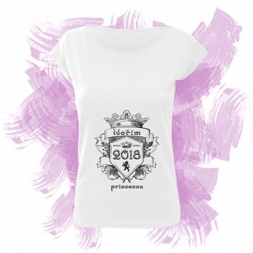 Tričko elegance s motivem - tvořím princeznu 6