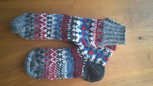 Ponožky vel. 39 celovzorované