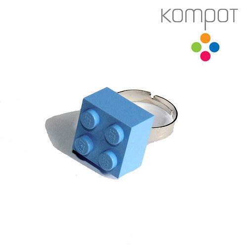 LEGO PRSTEN :: světle modrý